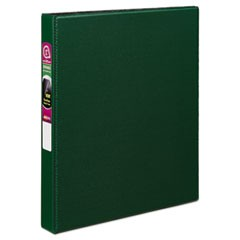 "Durable Non-View Binder with DuraHinge and Slant Rings, 3 Rings, 1"" Capacity, 11 x 8.5, Green"