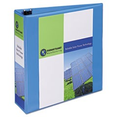 "Heavy-Duty Non Stick View Binder with DuraHinge and Slant Rings, 3 Rings, 3"" Capacity, 11 x 8.5, Light Blue"