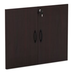 Alera Valencia Series Cabinet Door Kit For All Bookcases, 15.63W X 0.75D X 25.25H, Mahogany