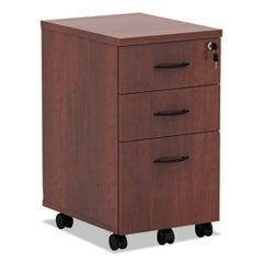 Alera Valencia Mobile Box/Box/File Pedestal File, 15.88w x 20.5d x 28.38h, Medium Cherry