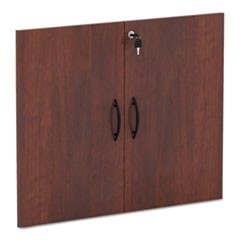Alera Valencia Series Cabinet Door Kit For All Bookcases, 15.63W X 0.75D X 25.25H, Medium Cherry