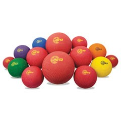 Playground Ball Set, Multi-Size, Multi-Color, Nylon, 14/Set