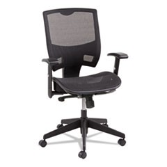 Epoch Series All Mesh Multifunction Mid-Back Chair, Black