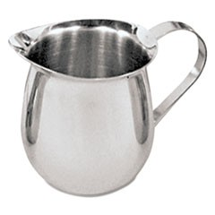 Creamer, Stainless Steel, 3 oz, Silver, 2/Pack