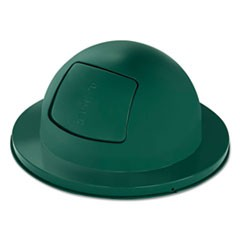 "Towne Series Dome Top Waste Receptacle Lids, 21"" dia, Green, Steel"