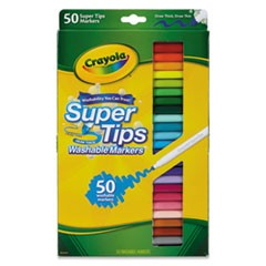 Washable Super Tips Markers, Assorted, 50/Set