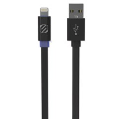 flatOUT LED Charge/Sync Cable with Charge LED for Lightning USB Devices, 3 ft