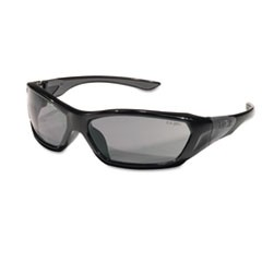 ForceFlex Safety Glasses, Black Frame, Gray Lens