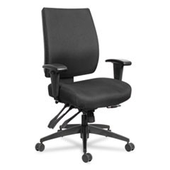 "Alera Wrigley 24/7 High Performance Multifunction Chair, 42 7/8""h, Black"