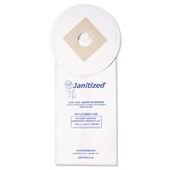Vacuum Filter Bags Designed to Fit ProTeam LineVacer/Rubbermaid 9VBP06, 100/CT