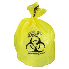 Healthcare Biohazard Can Liners, 20-30 gal, 1.3mil, 30 x 43, Yellow, 200/CT