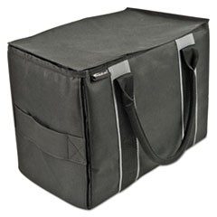 Mini File Tote, Nylon, 600 Denier Nylon,14 x 8 x 10, Black