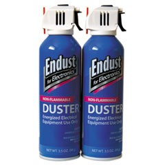 Non-Flammable Duster with Bitterant, 3.5 oz, 2 Cans/Pack