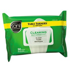 Multi-Surface Cleaning Wipes, 11 1/2 x 7, White, 90 Wipes/Pack, 12 Packs/Carton
