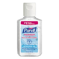 Advanced Hand Sanitizer Refreshing Gel, Clean Scent, 2 oz, Squeeze Bottle, 24/Carton
