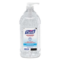 Advanced Hand Sanitizer Refreshing Gel, Clean Scent, 2 L Pump Bottle, 4/Carton