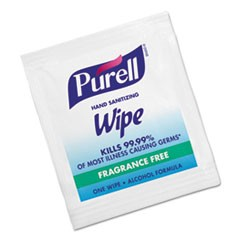Premoistened Sanitizing Hand Wipes, Individually Wrapped, 5 x 7, 1000/Carton