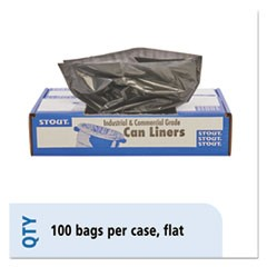 100% Recycled Plastic Garbage Bags, 20-30gal, 1.3mil, 30x39, Brown/Black, 100/CT