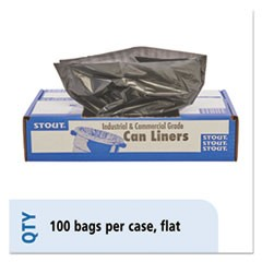 100% Recycled Plastic Garbage Bags, 33gal, 1.3mil, 33 x 40, Brown/Black, 100/CT