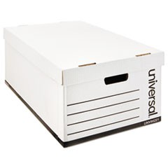 Lift-Off Lid File Storage Box, Legal, Fiberboard, White, 12/Carton