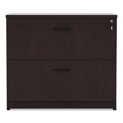 Alera Valencia Series Two Drawer Lateral File, 34w x 22 3/4d x 29 1/2h, Mahogany