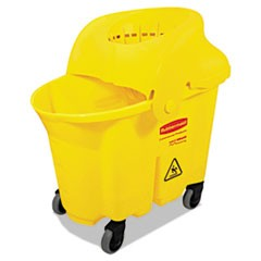 WaveBrake Institutional Bucket/Strainer Combo, 8.75gal, Yellow