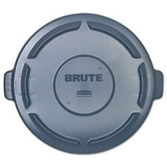 Vented Round BRUTE Lid, 24.5 dia x 1.5h, Gray