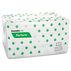 Perform Interfold Napkins, 1-Ply, 6 1/2 x 4 1/4, White, 188/PK, 6016/Carton