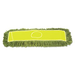 "Echo Dustmop, Synthetic/Cotton, 36"" x 5"", Green, 12/Carton"
