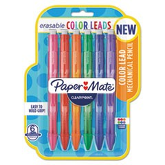 Clearpoint Color Mechanical Pencils, 0.7 mm, Assorted Lead/Barrel Colors, 6/Pack