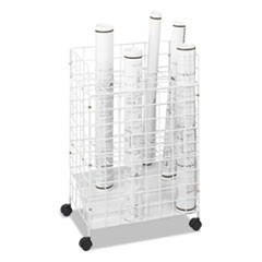 Wire Roll Files, 24 Compartments, 21w x 14-1/4d x 31-3/4h, White