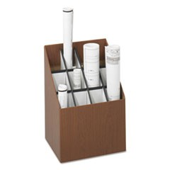 Corrugated Roll Files, 12 Compartments, 15w x 12d x 22h, Woodgrain