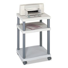 Safco Wave Design Printer Stand, Three-Shelf, 20W X 17.5D X 29.25H, Charcoal Gray