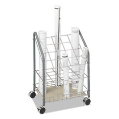 Wire Roll/Files, 20 Compartments, 18w x 12.75d x 24.5h, Gray
