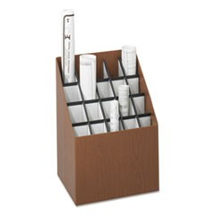 Corrugated Roll Files, 20 Compartments, 15w x 12d x 22h, Woodgrain