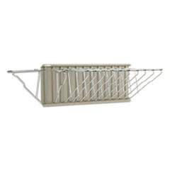 Safco Sheet File Pivot Wall Rack, 12 Hanging Clamps, 24W X 14.75D X 9.75H, Sand