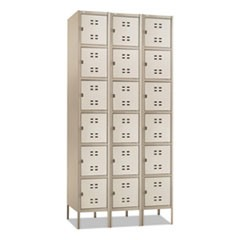 Three-Column Box Locker, 36w x 18d x 78h, Two-Tone Tan