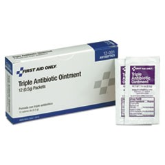 First Aid Kit Refill Triple Antibiotic Ointment, 12/Box