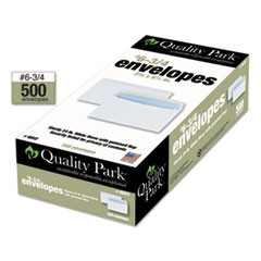 Security Tinted Business Envelope, #6 3/4, 3 5/8 x 6 1/2, White, 500/Box