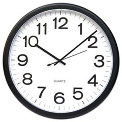 Round Wall Clock, Black, 12""