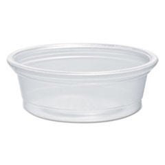 Plastic Souffl� Portion Cups, 1/2 oz., Translucent, 2500/Carton