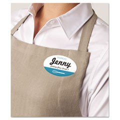 Oval Self-Adhesive Laser/Inkjet Name Badge Label, 2 x 3 1/3, White, 160/PK