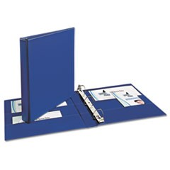 "Durable Binder with Two Booster EZD Rings, 11 x 8 1/2, 1"", Blue"