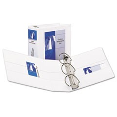 Avery Durable View Binder With Durahinge And Ezd Rings, 3 Rings, 5  Capacity, 11 X 8.5, White
