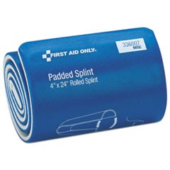 "Padded Splint, 4"" x 24"", Blue/White"