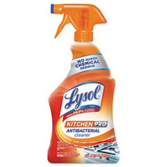 Kitchen Pro Antibacterial Cleaner, Citrus Scent, 22 oz Spray Bottle, 9/CT