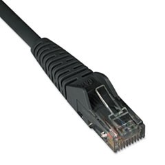 Cat6 Gigabit Snagless Molded Patch Cable, RJ45 (M/M), 1 ft., Black