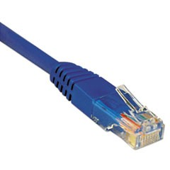 Cat5e 350MHz Molded Patch Cable, RJ45 (M/M), 14 ft., Blue