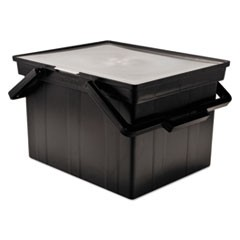 Companion Portable File Storage Box, Legal/Letter, Plastic, Black