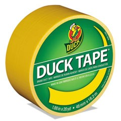 "Colored Duct Tape, 9 mil, 1.88"" x 20 yds, 3"" Core, Yellow"